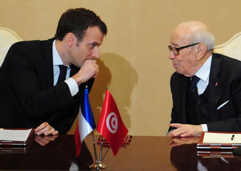Macron Pledges to Double French Investment in Tunisia